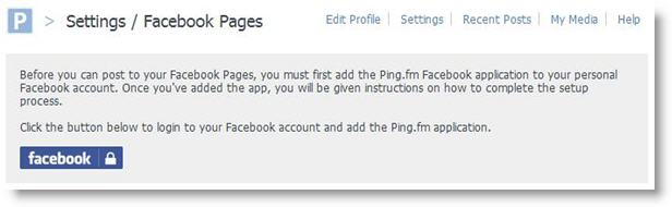 Ping.fm Social Networks Update Service screenshot