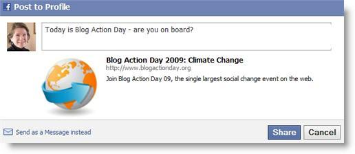 Facebook share screenshot