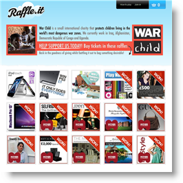 Warchild's online raffle page at Raffle.it
