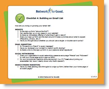 Online Fundraiser's Checklist