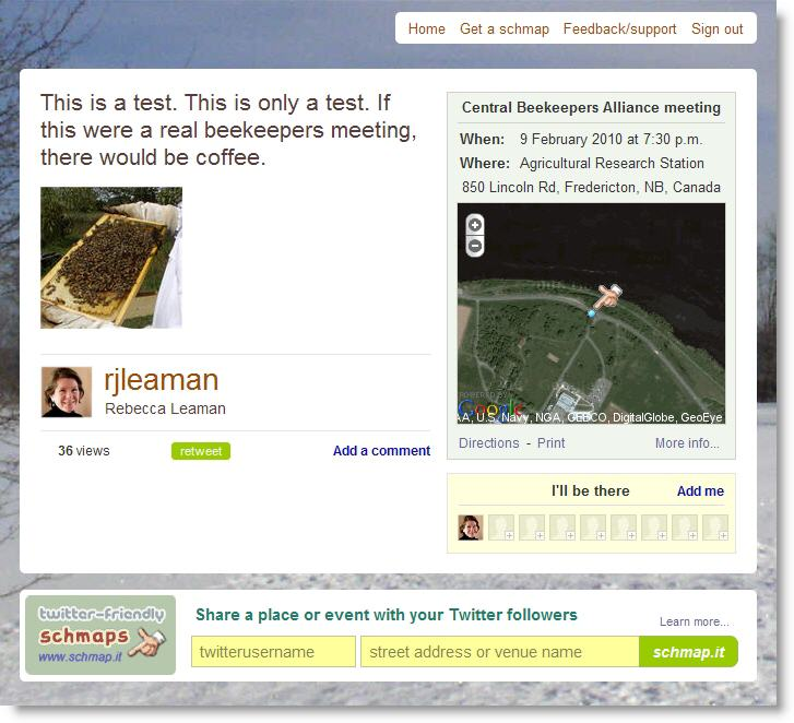 sample Schmap.it event map