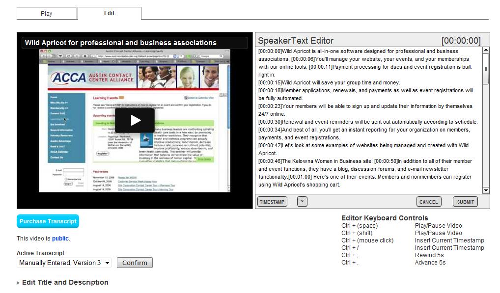 SpeakerText screenshot