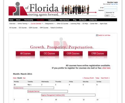 PIA of Florida - Course Calendar