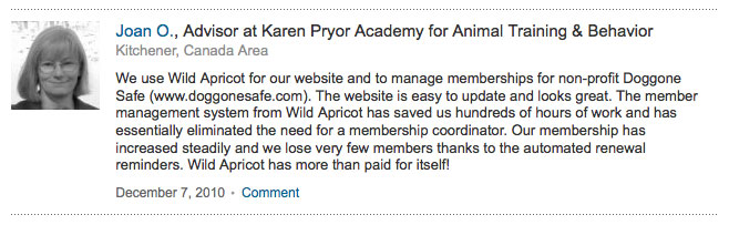 Joan Orr -- Doggone Safe LinkedIn Recommendation