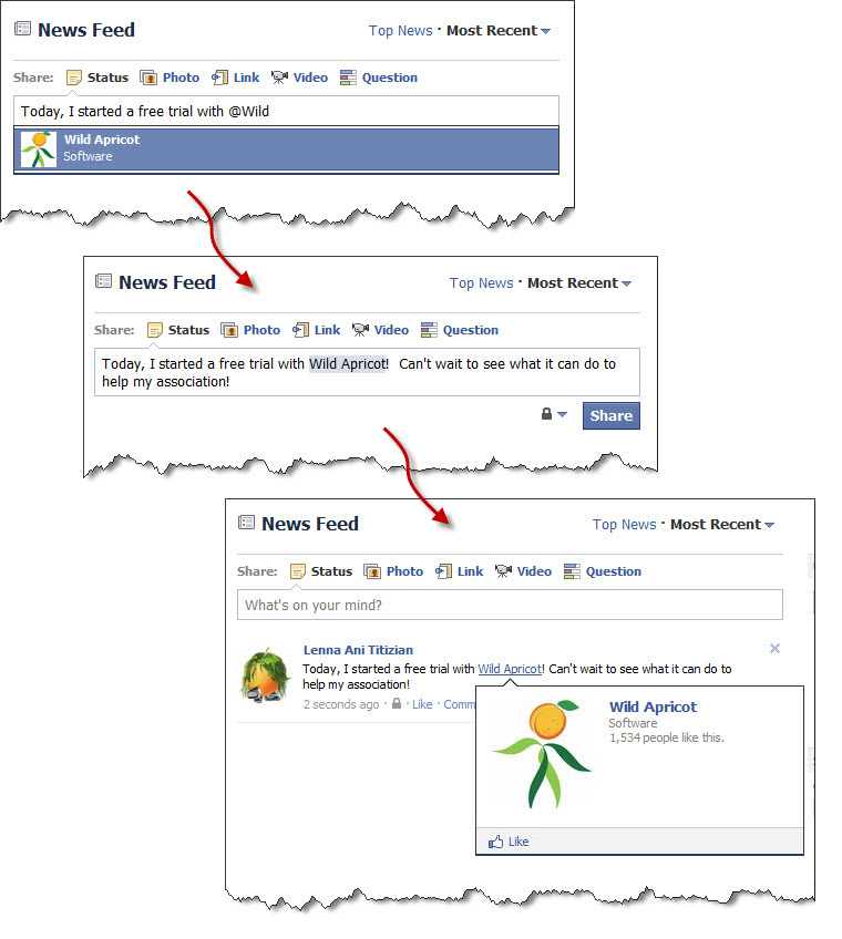 How to Tag on Facebook (click to enlarge)