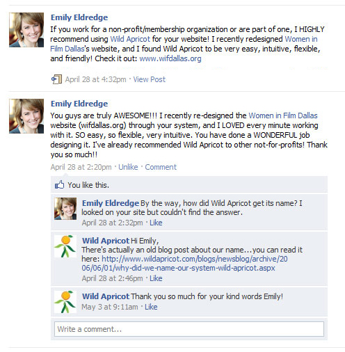 Emily's Facebook Review of WA (click to enlarge)