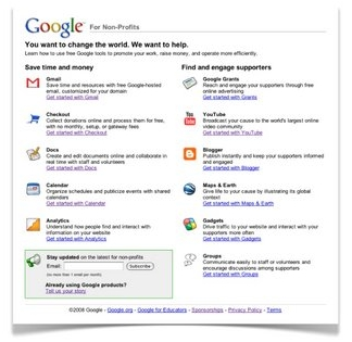 Google for Nonprofits portal