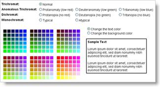 Color Vision color blindness color palette testing tool