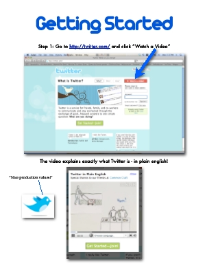 Twitter guide page