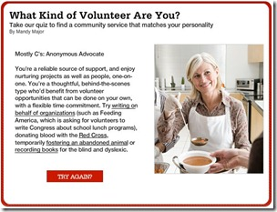 What Kind of Volunteer Are You? - Quiz