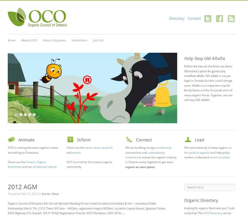 Organic Council of Ontario - homepage