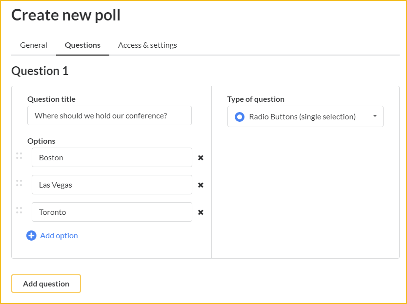 Create a poll screenshot
