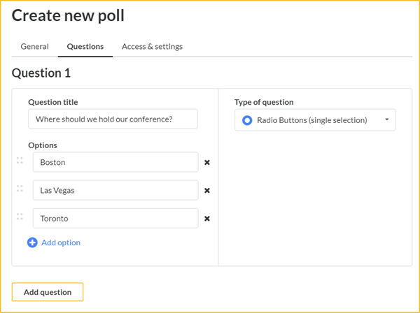 Create a poll screenshot