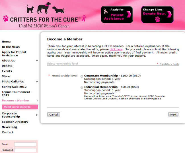 Critters-for-the-Cure---Membership