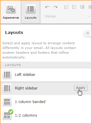 email layout