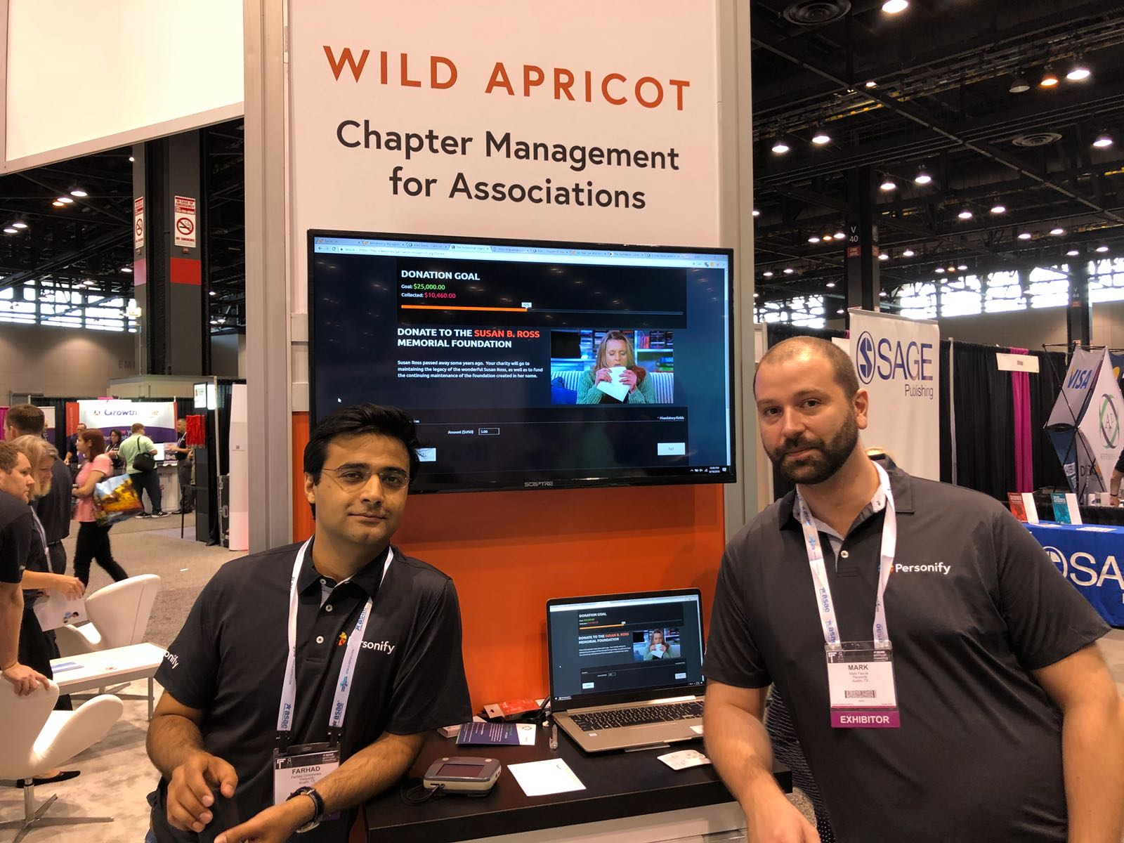 Farhad and Mark at the Wild Apricot stand