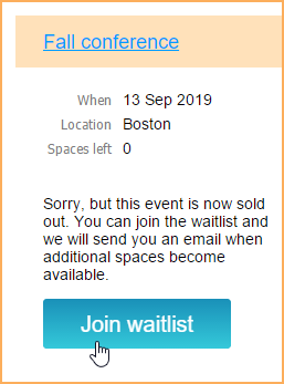 join waitlist option