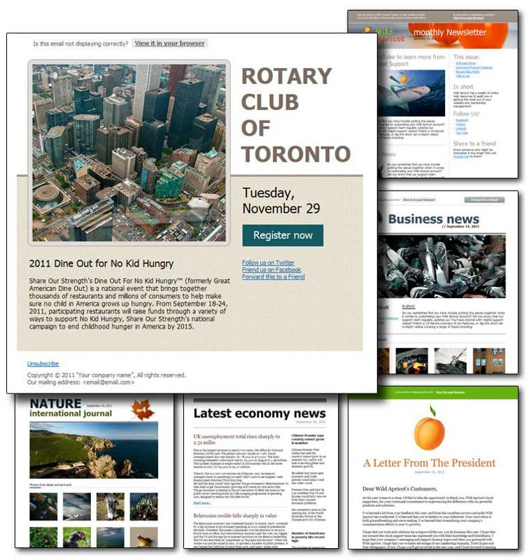 Newsletter Templates (click to enlarge)