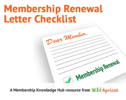 Renewal Letter Checklist