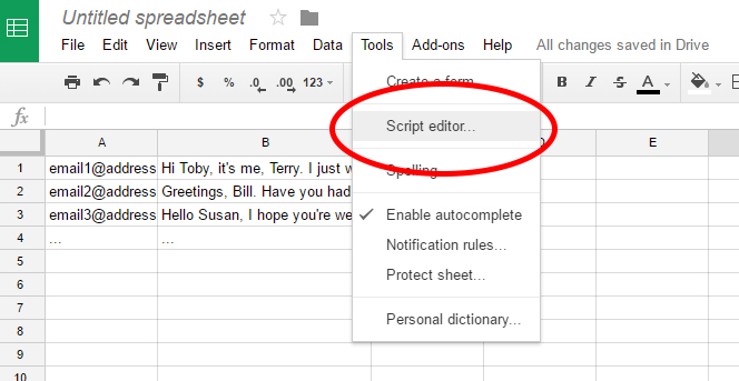 how to send mass personalized emails gmail script editor