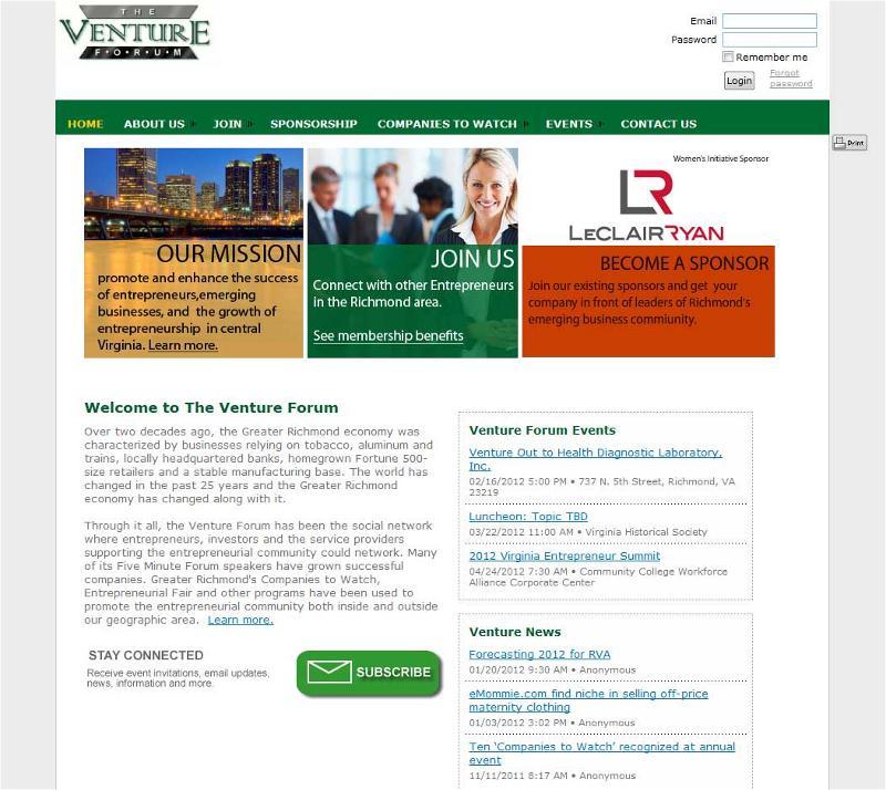 Venture Forum's new Wild Apricot site