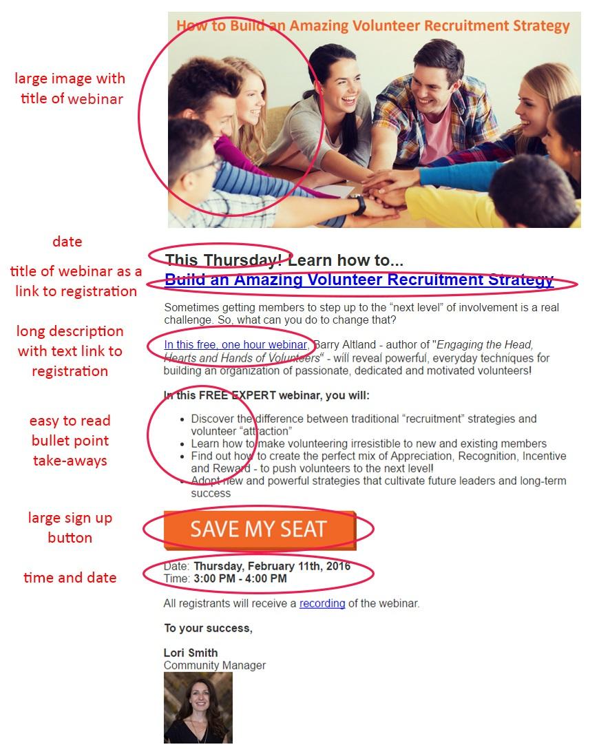 webinar email