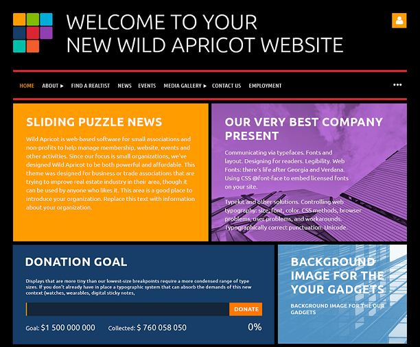 website theme building blocks